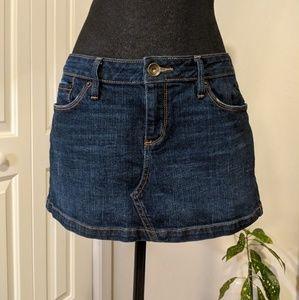 Bullhead denim mini skirt